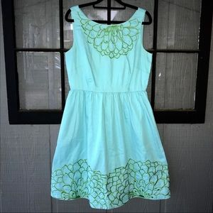 Lilly Pulitzer blue cocktail dress w/embroidery